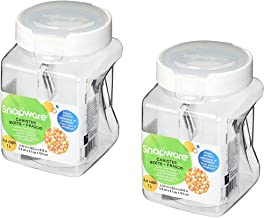 Snapware Square-Grip Canister, 4.4 cups/1 liter - 2 Pack