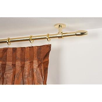140 cm Complet L InCasa Tringle /à Rideaux: /Ø 28 mm en Acier satin/é