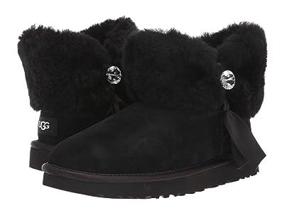 UGG Cinched Fur Mini (Black) Women