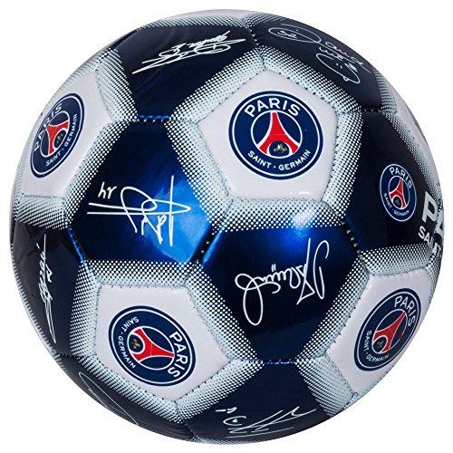Blue//White mini Paris Saint Germain FC Signature Mini Football
