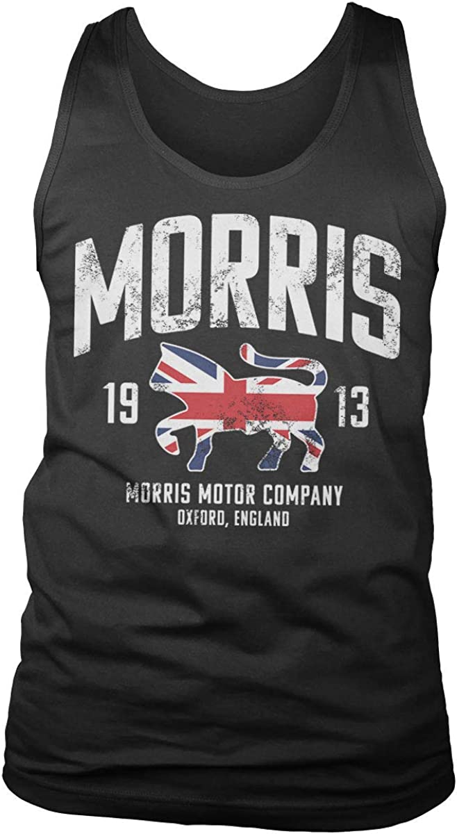 Morris Officially Licensed Motor Company Mens Tank Top Vest (Black), S