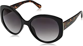 Women's J5730 Over-Sized Round Sunglasses with 100% UV Protection, 70 mm