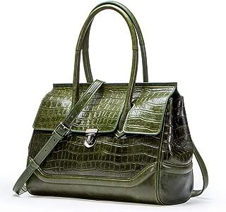 Elegant Women's Top Handle Shoulder Bag, Leisure Vintage Luxury Waterproof Leather Large Purse,Strap Replacement Messenger Bag