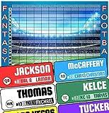 Fantasy Football Draft Board 2020 Kit - Color Rush Labels & Draft Board - Draft Kit