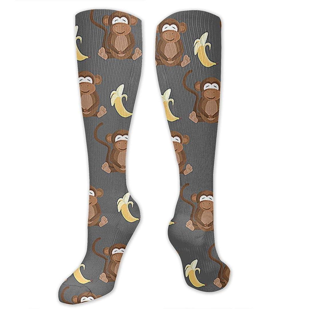 横に活気づける仮称QRRIY圧縮靴下3 D猿ロババナナ抗菌アスレチック靴下男性の女性のための最高の医療の旅の女の子の旅の旅看護師浮腫