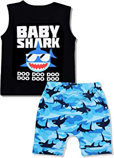 Baby Boy Clothes Baby Shark Doo Doo Doo Print Summer...