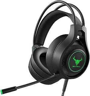 Kikc Auriculares para juegos PS4 estéreo Xbox One Auriculares con cable para PC Gaming Auriculares con micrófono con cance...