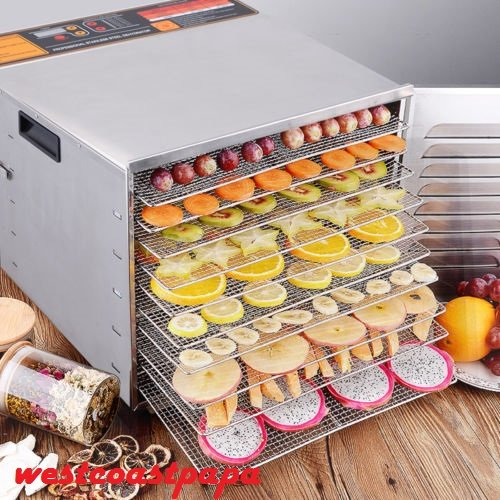 Fantastic Prices! Food Dehydrator Machine 10 Tray Layer Professional And Stainless Steel Fruit Jerky...