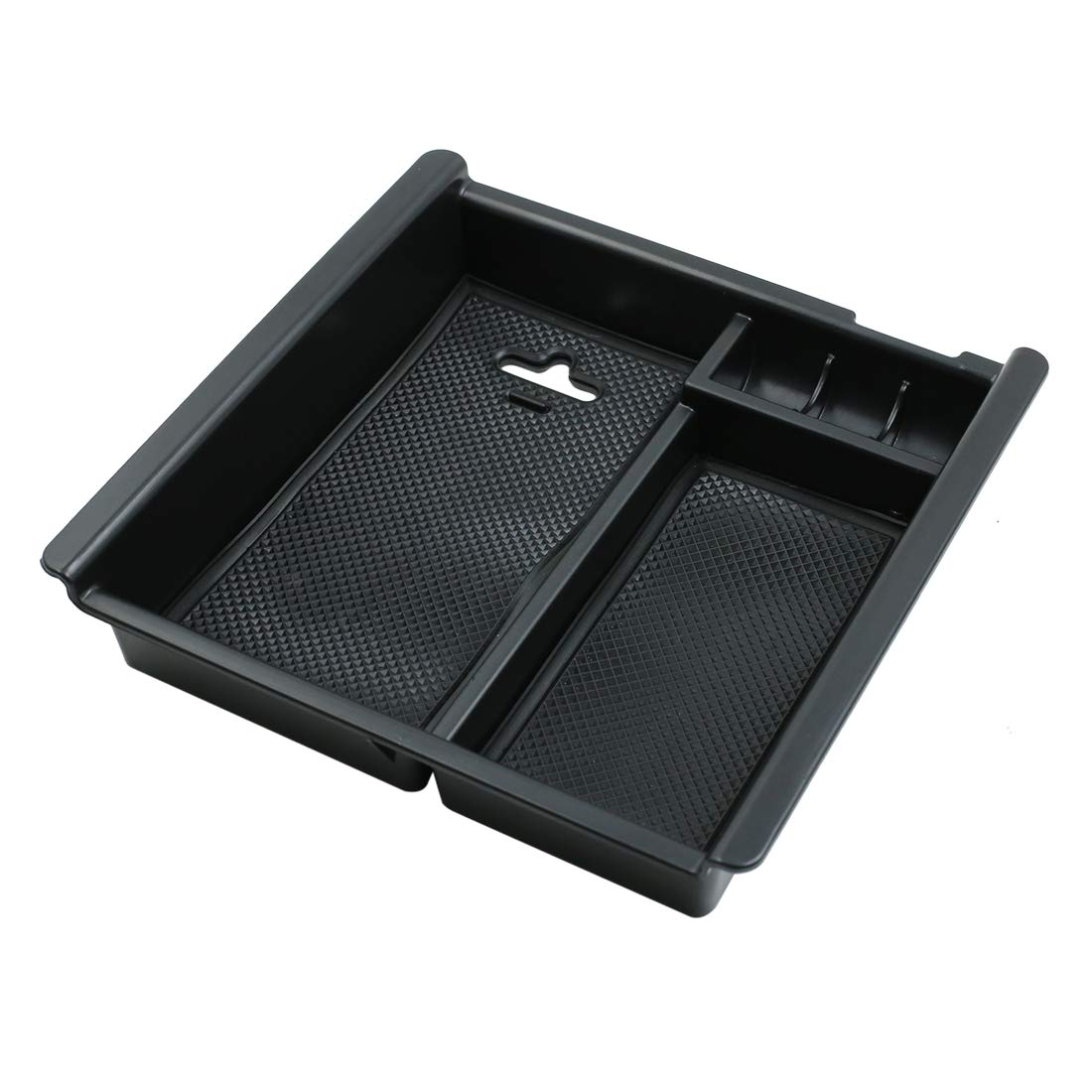 X AUTOHAUX Car Center Console Organizer Armrest Storage Insert Tray for 09-18 Dodge Ram 1500