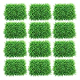 FENDOUBA 12 Pack Künstliche Pflanzen Wand Buchsbaum Hecke Matte Sichtschutz Zaun Bildschirm Faux Greenery Wall Panels Dekorative Geeignet für Outdoor Indoor Garden Patio (Color : Mixed...