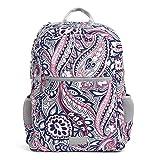 Vera Bradley Women's Recycled Lighten Up ReActive Grand Backpack, Gramercy Paisley, One Size
