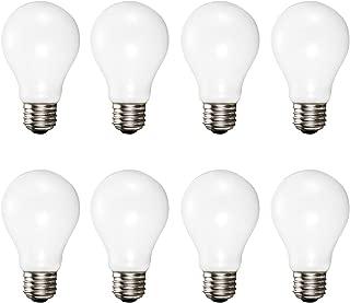 A19 Soft White Halogen Light Bulb, 72 Watt, (100W Equivalent), 2700K Soft White, E26 Medium Base, 1400 Lumens, 120V (8 Pack)