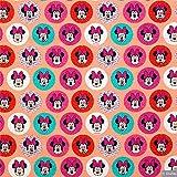 Loopomio Jersey Stoff Disney Micky Minni Maus apricot 0,50m