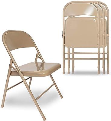 VECELO Lot de 4 Chaise de Cuisine Pliante, Chaise Pliable de