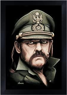 Killed by Death by Marco Almera Lemmy Kilmister Motorhead Rock Framed Art Print