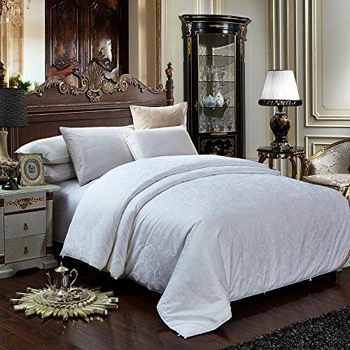 lsharon todas las estaciones peso 100% Seda Mulberry edredón para ropa de cama blanco–solo (150x 200cm) 2–4Tog, Blanco, 150X200 cm