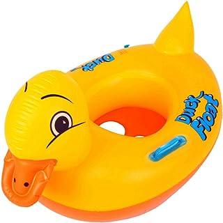 Mattelsen Anillo de Natación para Bebé, Barco Flotador de Bebé Pato Amarillo Inflable de La Piscina Juguetes para Niños de Color Llamativo