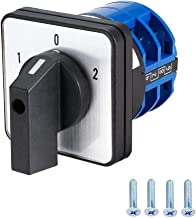 VictorsHome Changeover Switch LW28-32 3 Positions 8 Terminals Universal Rotary Cam Selector Latching Switches 690V 32A