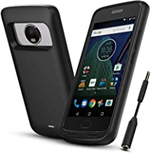Moto G Plus (5th Generation) Battery Case,ICONIC 4400mAh Charger Case Rechargeable Portable Charging Case,Protective Charging Backup Power Bank Cover with Headphone Jack for G5 Plus(not for g5 s plus)