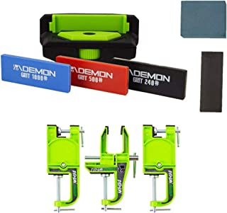 Demon United Elite X Ski Edge Care Kit and Snowboard Vise Combo Package - Includes Side Edge Multi-Tool, 3 Diamond Stones, Steel File and Gummy Stone and Your Choise of Vises