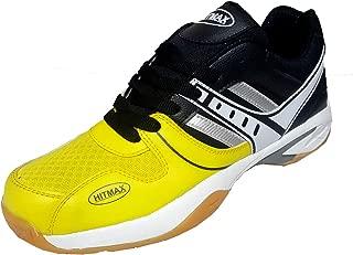 Hitmax Sports Smash Badminton Shoes (Yellow)