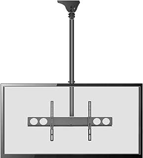 Adjustable Height TV Ceiling Mount - Tilting Vertical VESA Universal Monitor Mounting Bracket w/Telescoping Arm, Mounts 37...