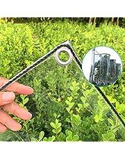 Tarp-dekzeil Transparant Zeildoek Met Doorvoertules, Dikker, Regendicht Plastic Doorzichtig Zeildoek, Duurzame PVC-pergola-terrasdakafdekking, 15,9 Oz / 22,9 Oz