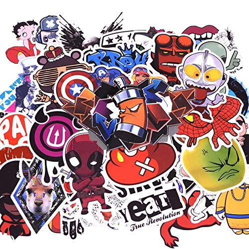 50pcs/pack D1 Anime Sticker Kids Toy Cool Stickers For DIY Children Stikers Luggage Laptop Skateboard Moto Car Kpop Stickers