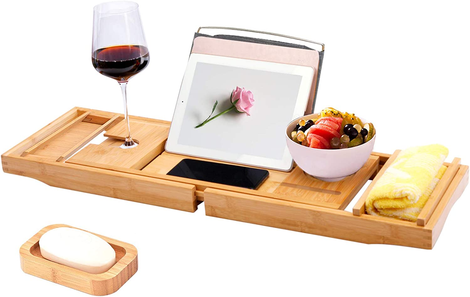 wholesale Nonebranded Bathtub Caddy Fort Worth Mall Tray Expandable wi Bamboo