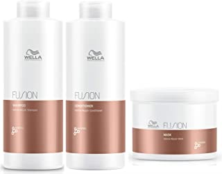 Wella Fusion Intense Repair Shampoo 1L, Conditioner 1L and Mask 500 ml