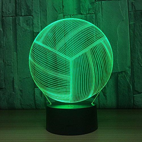 LED-Nachtlicht,Nachtlicht mit 7-farbigem Nachtlicht,Volleyball Pattern,baby,Kinder,Geburtstagsgeschenk,Nachttischlampe,Tischlampe,Kinderzimmer,Weihnachtsgeschenk