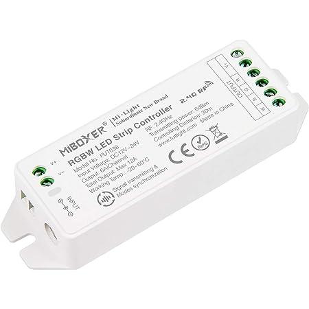 Contrôleur de bande LIGHTEU®, Milight Miboxer 2,4 GHz RGBW RGB + LED blanc Sortie DC12V / 24V Max. 12A, FUT038