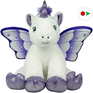 Bear Factory Record Your Own Plush 16 Inch Crystal The Unicorn - Ready 2 Love in a Few Easy Steps