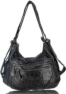 Faux leather handbag purse bag tote satchel shoulder hobo bag designer handbags faux leather hobo purses for women girls as gift