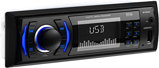 BOSS Audio 612UA Multimedia Car Stereo - Single Din, No CD DVD Player, MP3, USB Port, Aux Input, Am FM Radio Receiver