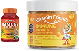 Vitamin C Supplement – Vitamin Friends Vegan All-Natural Herbal Immune System Support Vitamins – Zinc Citrate, Echinacea &...