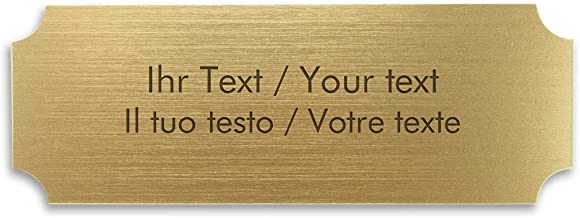 Deurbordje met individuele gravure, kunststof bord goud metallic, 180 x 65 mm, vierkant - naamplaatje, belbord, graveerpla...