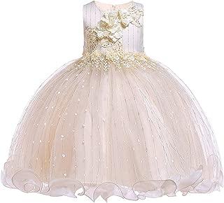 Áo quần dành cho bé gái – 3-12 Years Girls Dresses Flower Pageant Dresses for Girls Sequin Ruffles Tulle Dress