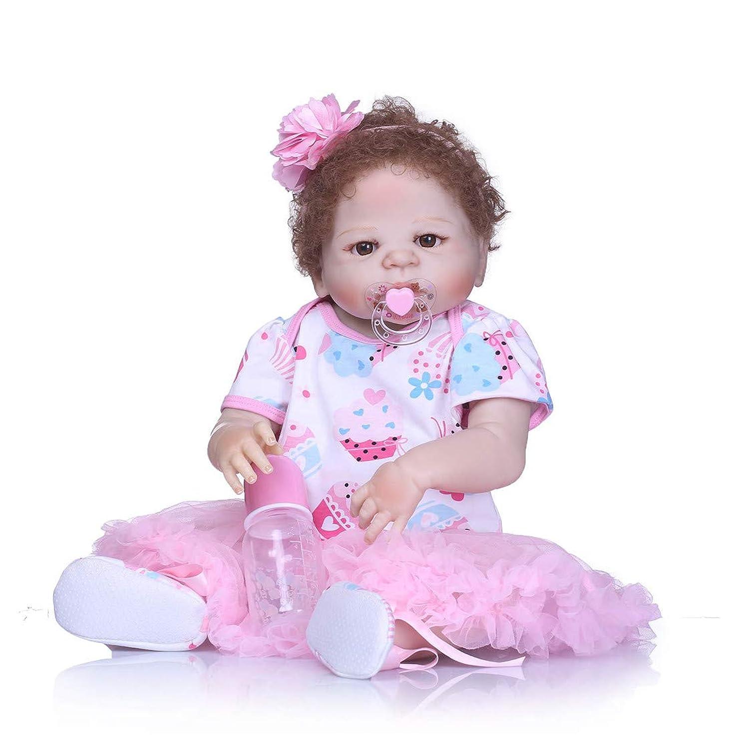 確率ステレオ相談するリアルリボーンベビードール22インチ/ 57センチメートル現実的なルック?ガール人形 - アクリル目と手のアプライド?アイまつげを使用して設計 - 子供のための大きい