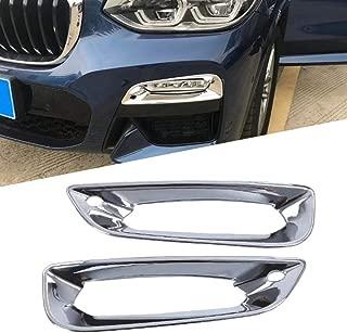 para Audi Q7 2007 2008 2009 BANIKOP 1 par Negro pl/ástico Coche Delantero Inferior Parachoques Cubierta antiniebla Rejilla
