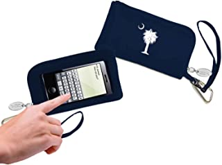 Cell Phone Wallet- Navy - Palmetto Tree & Moon
