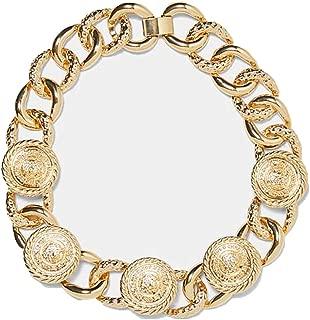 Balalei 2019 Trendy Resin Stone Metal Maxi Punk Heart Shell Chain Charm Necklace Women Jewelry Luxury A328