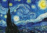 AthlChamp - Rompecabezas para adultos de 1000 piezas, noche estrellada de Vincent Van Gogh, rompecabezas de 1000 piezas para bricolaje, juguetes cerebrales para niños, adolescentes y adultos