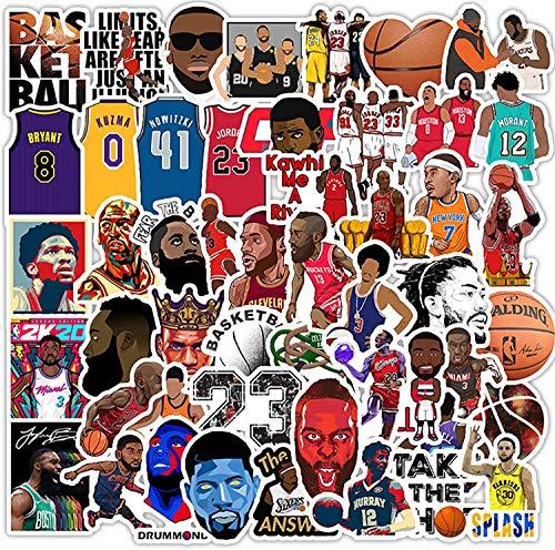 100Pcs Basketball Star Kobe Stickers NBA Sticker Calcomanía pequeña para botella de agua Hydroflask Skateboard Bicicleta Computadora Coche Pegatinas impermeables para niños, adolescentes, adultos
