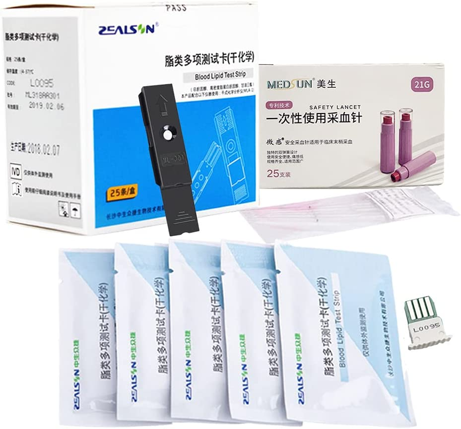 Luxury goods HDL LDL Triglycerides Cholesterol Blood Test Strips Lipid free shipping