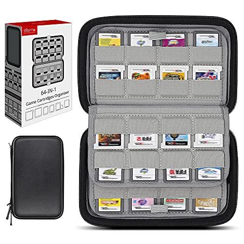 sisma 64 Game Card Holder Storage Case for Nintendo 3DS 2DS DS Game Cartridges  Black