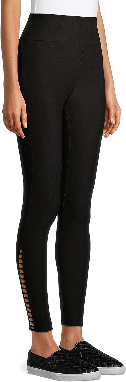 Black Soot Super Soft High Rise Side Bar Legging