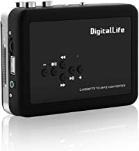 DigitalLife Cassette Player Recorder - Walkman Cassette Tapes to MP3 CD Converter via USB Flash Driver (Not Included, No Need PC
