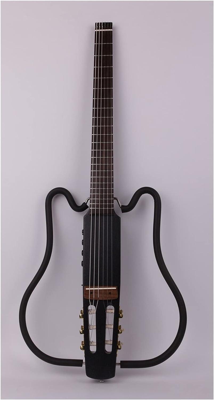 Cuerpo Guitarra Nylon String Sin Cabeza Clásica Clásica Mute Guitarra Eléctrica Efectos Incorporados Viaje Portátil Plegable Plegable Kits Guitarra Bricolaje (Color : Black)