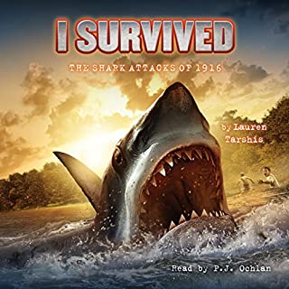 I Survived the Shark Attacks of 1916     I Survived, Book 2              Auteur(s):                                                                                                                                 Lauren Tarshis                               Narrateur(s):                                                                                                                                 P. J. Ochlan                      Durée: 1 h et 19 min     2 évaluations     Au global 4,5
